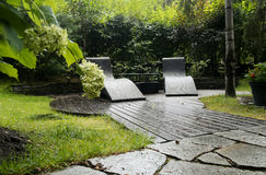 Two Garden Armchairs Stock Image