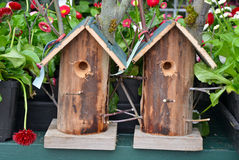Two garden birdhouses Royalty Free Stock Images
