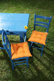 Two garden chairs Royalty Free Stock Image