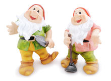 Two garden gnomes Stock Images