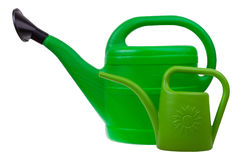 Two garden watering cans Royalty Free Stock Photo