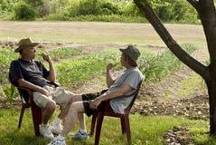 Two gardeners Stock Photo