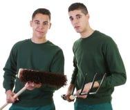 Two gardeners Stock Photos