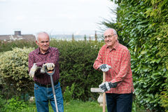 Two gardeners Stock Images