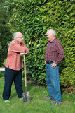 Two gardeners Royalty Free Stock Image