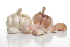 Two garlic Royalty Free Stock Photography