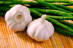 Two garlic Stock Photo