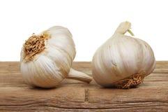Two garlic bulbs Stock Photos