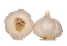 Two garlic cloves Royalty Free Stock Photography