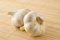 Two garlic heads. Stock Photography