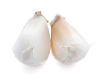 Two garlic slices Stock Image
