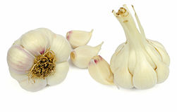 Two garlic Stock Photos