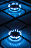 Two gas burner Royalty Free Stock Photos