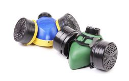 Two gas masks. Royalty Free Stock Image