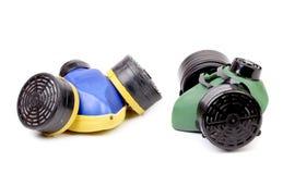 Two Gas Masks. Stock Photos