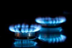 Two gas rings Stock Photos