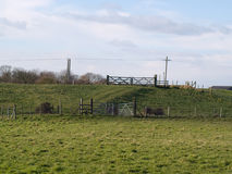 Two gates in a field Royalty Free Stock Photos