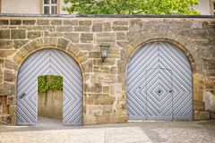 Two gates in a wall Stock Images