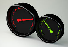 Two gauges Stock Photo