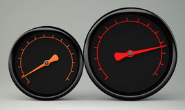 Two gauges Royalty Free Stock Photo