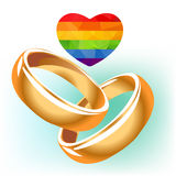 Two gay wedding rings Stock Images
