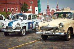 Two GAZ Volga (vintage car USSR) royalty free stock photos