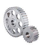 Two gear coupled Stock Photography