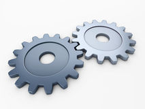 Two gear to place concepts Royalty Free Stock Photo