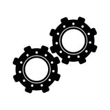 Two gear wheel engine teamwork Royalty Free Stock Photo