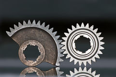 Two gear wheels Royalty Free Stock Photography