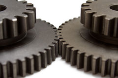 Two gear wheels Stock Photo