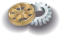 Two gears Royalty Free Stock Photos
