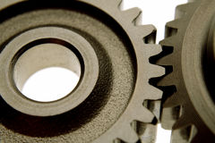 Two gears Stock Photos