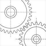 Two gears Stock Images