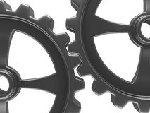 Two gears on white background Royalty Free Stock Image