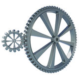 Two Gears on white background Stock Images