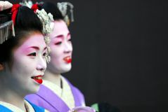 Two Geisha portrait Stock Photo