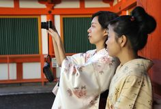 Two geisha's Stock Photos