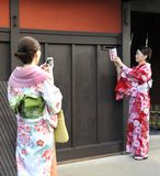 Two geishas Stock Image