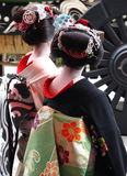 Two geishas Stock Images