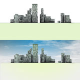 Two general panoramic cityscape views. Two general  panoramic cityscape views illustration Royalty Free Stock Photos