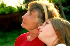 Two generations Stock Photography
