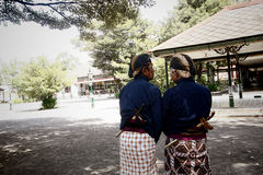 Two gentlemen of Javanese in traditional costumes Royalty Free Stock Photography