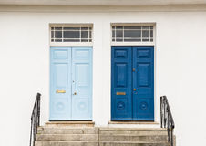 Two Georgian Style front, entrance, doors Stock Image
