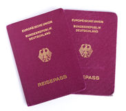 Isolated German Passports Stock Image