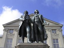 Two German poets in Weimar Royalty Free Stock Photo