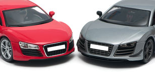 Two German sports car Royalty Free Stock Photo