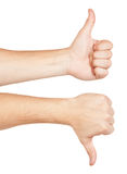 Two gesturing hands Royalty Free Stock Photography