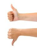 Two gesturing hands Stock Images
