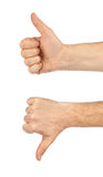 Two gesturing hands Stock Image